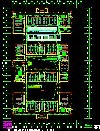 校园楼群(1245#楼)建设暖通系统设计施工图纸