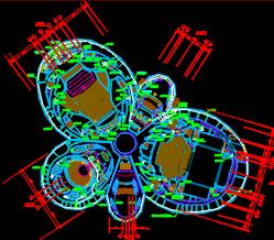 艺术中心空调平面施工图