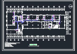 二层会所中央空调暖通施工图