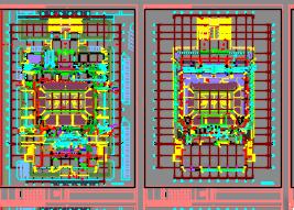 某大学三层体育馆全套施工图(含建筑结构,水电暖)
