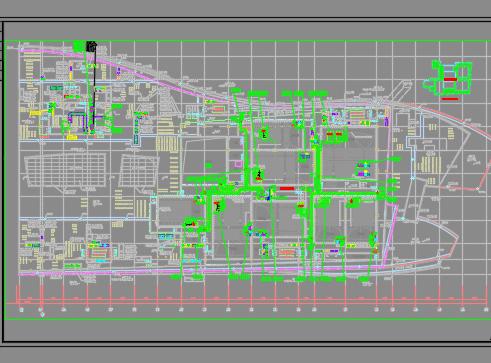 购物中心、地下室、办公楼暖通施工图纸