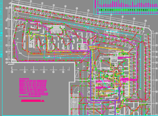 高层住宅楼电气施工图纸(附照度计算)