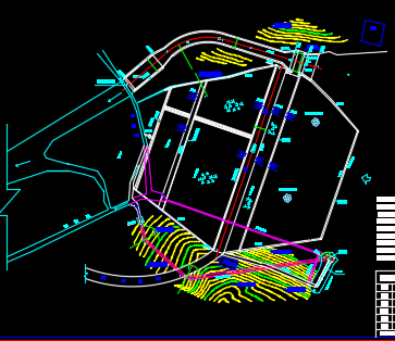 某水库除险加固总平面布置图