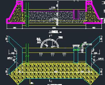 小型拦水坝设计图纸