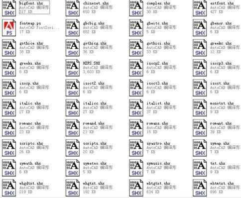 常用的CAD字体库,免费下载