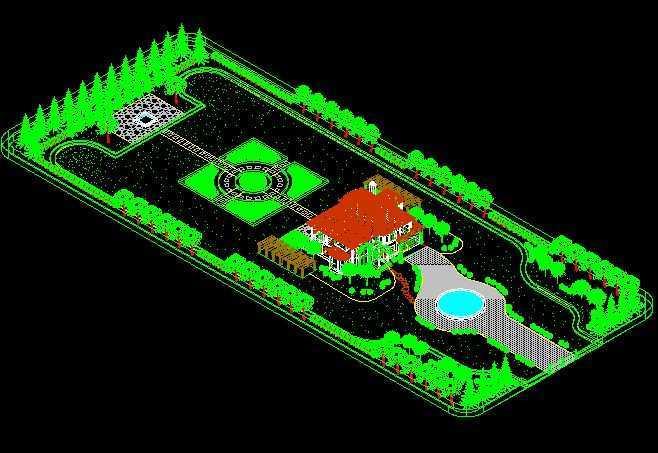全三维别墅园林景观设计效果图