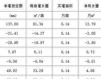 灌溉水利用率测算表