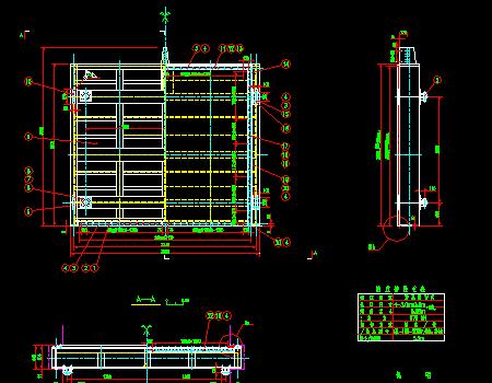 水库平板闸门金属结构施工图