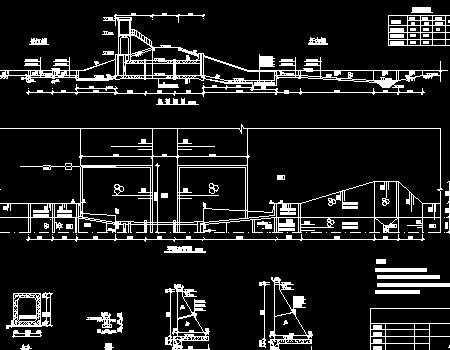 穿堤涵闸工程施工图(消力池启闭机房)