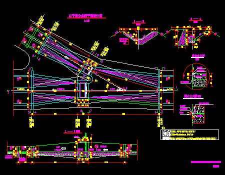 干渠分水闸平面设计图