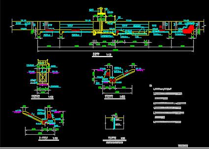 开敞式节制闸结构钢筋设计图纸