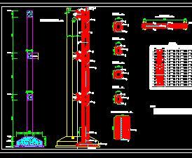 排涝站竖井排架设计图纸