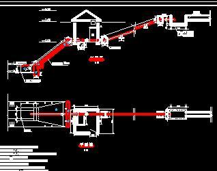 图纸闸门导入v图纸泵站免费下载-水利泵站ug草图怎么构造cad图纸图片