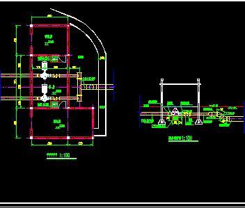 堤后式干室型泵站施工图纸