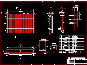 某水电站进水闸构造设计图纸