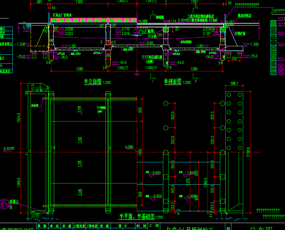 桥闸站工程设计图纸