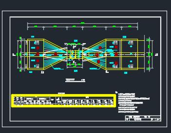 开敞式节制闸平面图