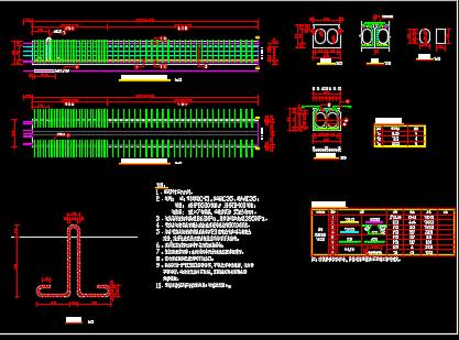 码头预制实心板、后张法预制预应力空心板详图