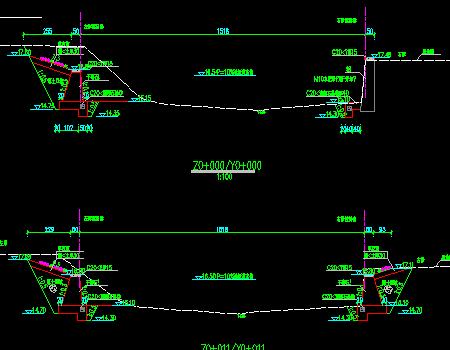 小流域堤防加固工程施工图