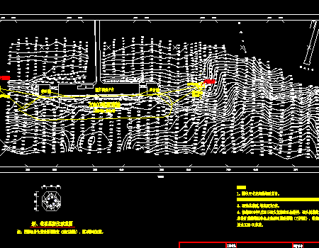 1000系缆墩平面位置图