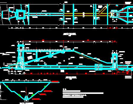 水库除险加固项目施工图(涵管启闭机工作桥)