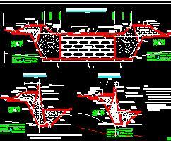 河道整治工程堤防、石河堰、泵站施工图纸