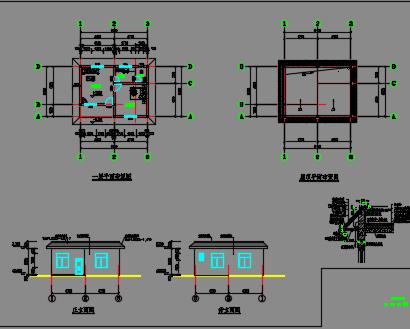 小二型病险水库除险加固管理房设计图纸