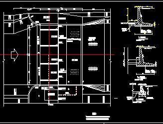 小型橡胶坝排水系统设计图纸