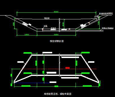 6米橡胶坝大坝设计图纸0