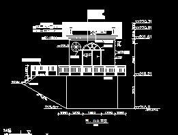 橡胶坝控制室构造设计图纸