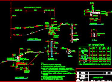 某地河道治理工程河道及护岸断面设计图