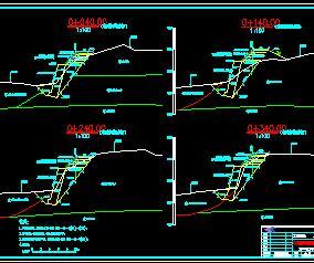 某县城防洪堤结构设计图纸