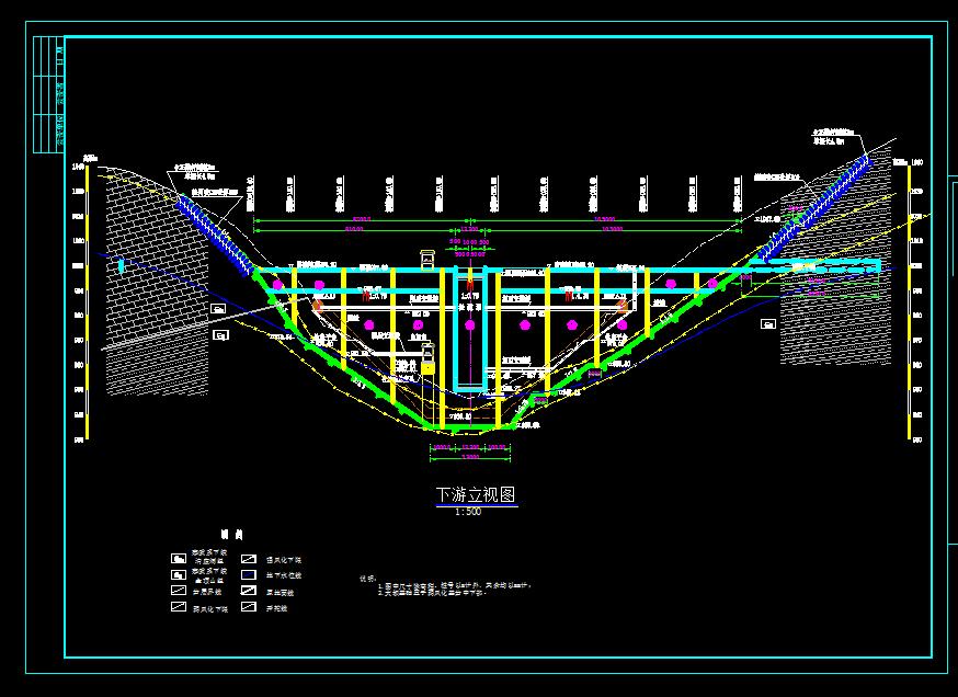 某重力坝结构施工图纸