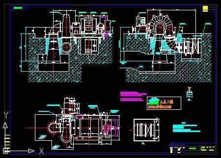 电站厂房平面图