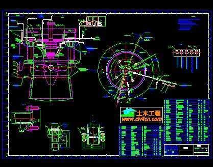 水电站轴流式机组设计图
