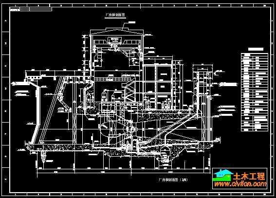 某水电站厂房安装布置图