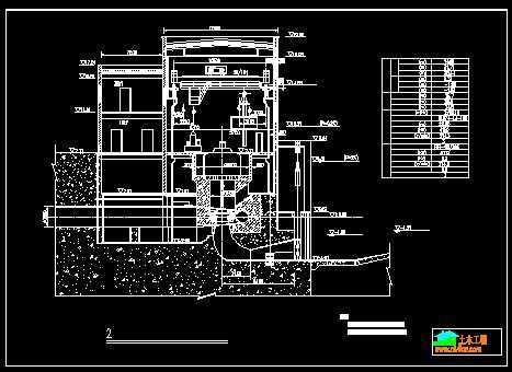 机组横剖面图免费下载 - 电站厂房 - 土木工程网