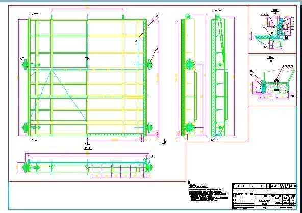 钢闸门设计图