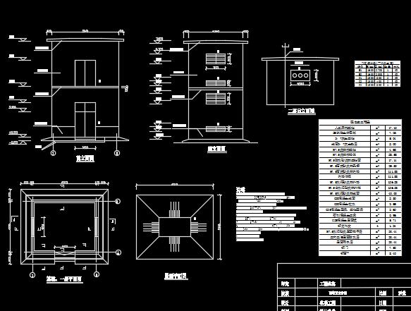 小型水利配电室设计图纸