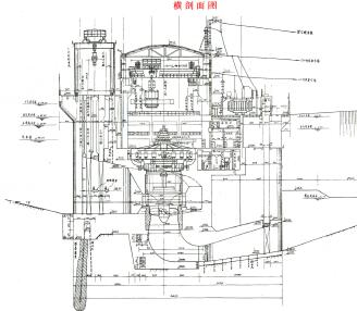 低水头河床式径流电站水利施工图纸