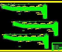低水头河床式小型电站施工图纸(闸坝观测设施)