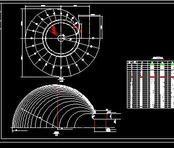 蜗壳、尾水管单线设计图纸