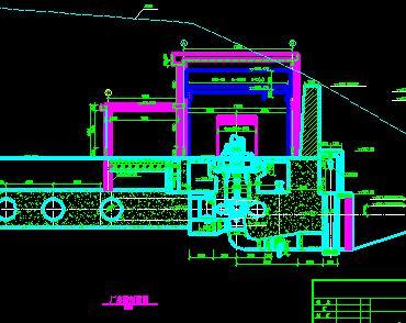 水电站厂房剖面设计图