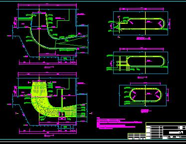 某水电站尾水管结构设计详图
