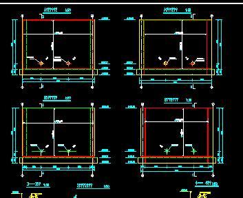 电站厂房墙体及走道板配筋设计图