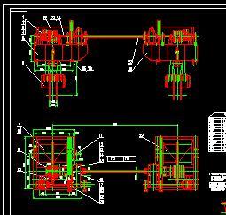 2X2000KN固定卷扬机构造设计图