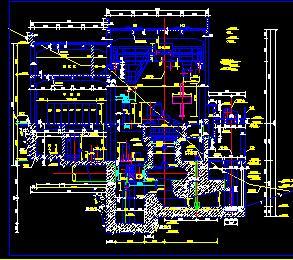 某水电站厂房全套施工图纸