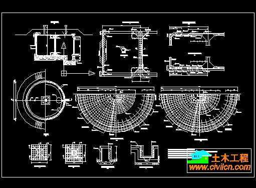 100t砼圆型蓄水池结构图纸