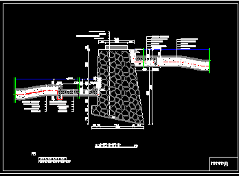 滚水坝典型设计图纸