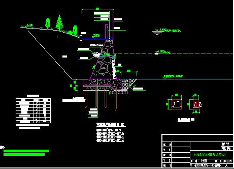城市内道治理驳岸设计详图